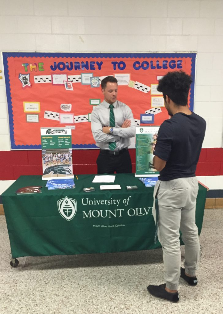 Mount Olive college rep meets with a Southern Wayne student